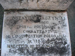 Grób Konstantego Gaszyńskiego, Aix en Provence